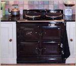 Image of Black integrated cooker in Laurel Farm Kitchen