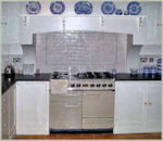Image of cooker in a completed Laurel Farm Kitchen