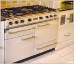 Image of integrated cooker in a Laurel Farm Kitchen